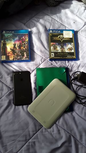 Kindom Of Hearts Ps4 games ,Brand New Ipone 7 Plus ,New Nook Notepad Reader for Sale in Murfreesboro, TN
