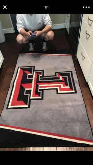 WRECK EM Texas Tech Rug for Sale in Houston, TX