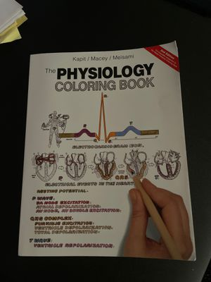 Physiology coloring book for Sale in Fremont, CA