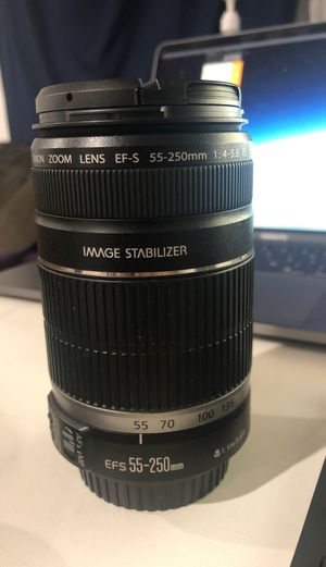 Canon EFS 55-250mm lens for Sale in Torrance, CA