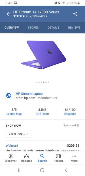 Hp stream laptop for Sale in Archdale, NC