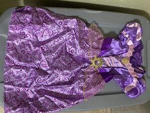 Rapunzel dress costume size 3-4 $10 for Sale in Round Rock, TX