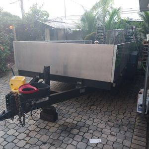flat heavy duty trailer with aluminum sides. for Sale in Fort Lauderdale, FL