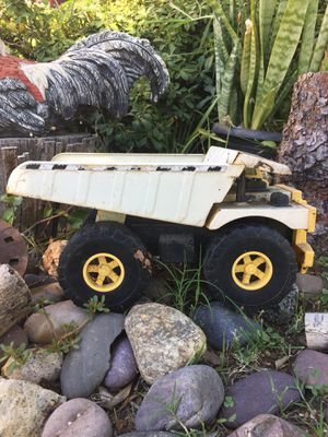 Cute decorative toy metal dump truck tractor earth mover scoop tonka for Sale in Pomona, CA