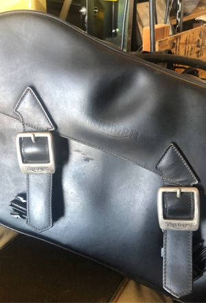 Triumph double saddle bags for motorcycle for Sale in Fort Worth, TX
