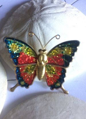 Vintage Articulated glitter Butterfly pin brooch for Sale in Sacramento, CA