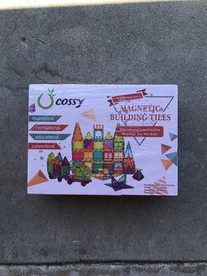 cossy Kids Magnet Toys Magnet Building Tiles, 120 Pcs 3D Magnetic Building Blocks Set, Educational Toys for Kids Children for Sale in Los Alamitos, CA