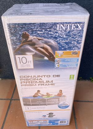 Intex 10ft x 30in Metal Prism Frame Pool with filter pump for Sale in Oakland, CA