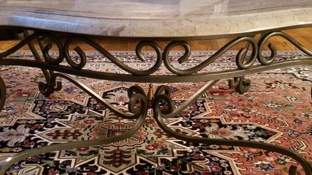 Coffee Table and Two End Tables Marble And Wrought Iron for Sale in Avon,  OH