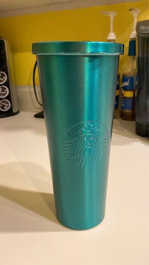Starbucks Green Metal Tumbler for Sale in Cascade-Fairwood, WA
