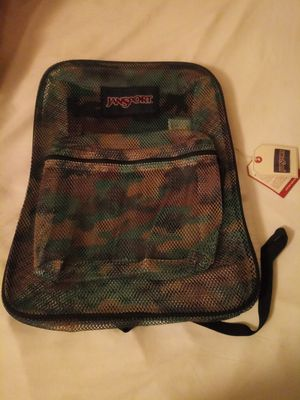 Camo Jansport mesh backpack for Sale in San Antonio, TX