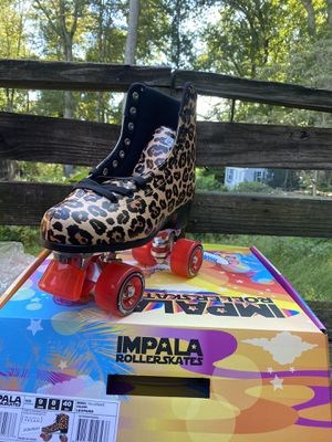 Impala Quad Roller Skates - Leopard - Size 9 - Brand New - IN HAND for Sale in Upper Marlboro, MD