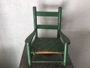 Little green vintage chair for child for Sale in Grand Rapids, MI