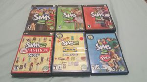 Sims 2 for PC - Sims 2, 3 expansion packs, 2 stuff packs for Sale in Baltimore, MD