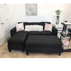 All New In Box Black Sectional Sofa W/ Ottoman for Sale in Commerce, CA