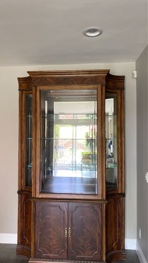 Beautiful antique Armoire/curio for Sale in Los Angeles, CA