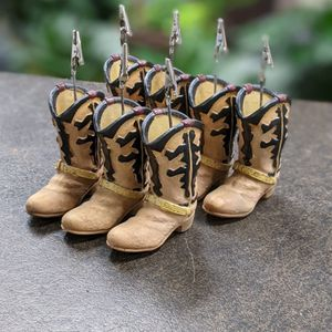 Cowboy Boot Card/Photo Holders (Set Of 7) for Sale in Farmers Branch, TX