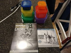 Masters Hammer and Chisel by Beachbody plus two sets 21 day fix containers for Sale in Herndon, VA
