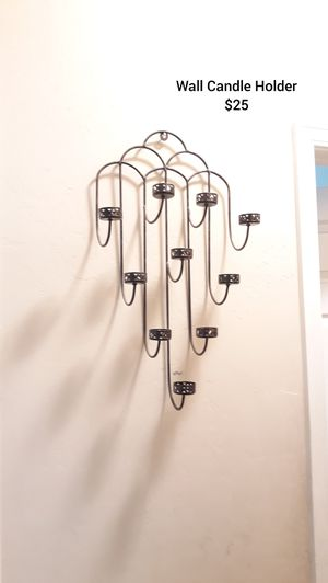Rought Iron Candle Holder for Sale in Bakersfield, CA