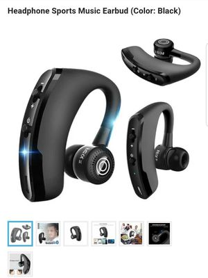 V9 Handsfree Business Bluetooth Headset With Mic Voice Control Wireless Bluetooth Earphone Headphone Sports Music Earbud (Color: Black) for Sale in Philadelphia, PA