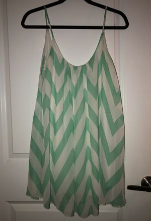 Green and White Dress, M for Sale in Los Angeles, CA