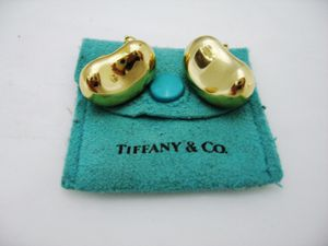 Tiffany and Co. Elsa Peretti 18Kt Yellow Gold Clip-on Bean Earrings for Sale in Los Angeles, CA