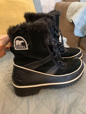 $190 Sorel black winter boots size 7 for Sale in Charlotte, NC