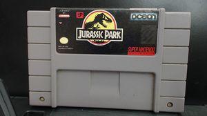 Jurassic Park Super Nintendo SNES Video Game Cart for Sale in Lake Elsinore, CA