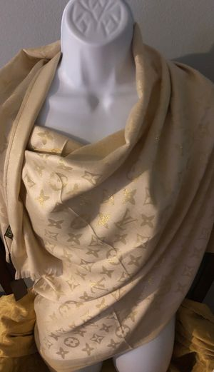 Brand new all natural fabric monogram shawl for Sale in Fort Lauderdale, FL