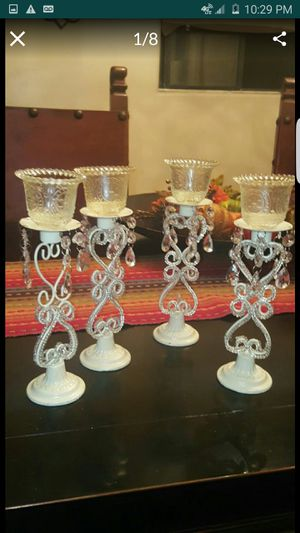 4 metal tea candle stands for Sale in Downey, CA