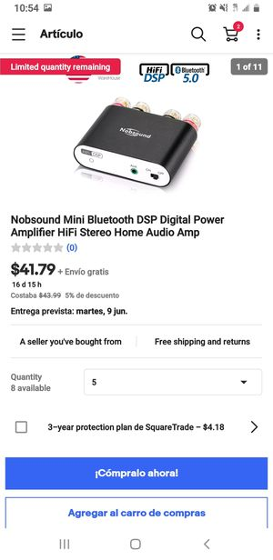 Nobsound mini bluetooth dsp digital Power amplifier estéreo home audio amp for Sale in Houston, TX