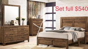 Set full / bed frame / tocador / espejo / y set colchon for Sale in Visalia, CA