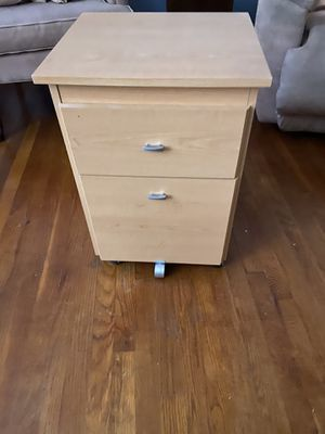 Wooden file cabinet for Sale in Chicago, IL