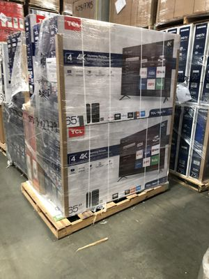 TCL Roku pallets 43 inch 50 inch 55 inch 65 inch tv 4K smart for Sale in Sierra Madre, CA