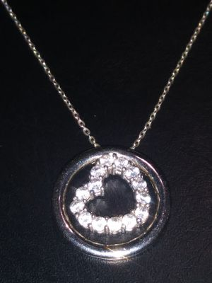 Nice heart necklace.(925 silver) for Sale in Turlock, CA