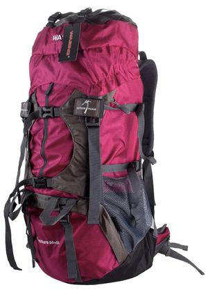 *NEW* 55L Internal Frame, Hiking, Travel, Climbing, Camping Backpack with Rain Cover, Fuchsia for Sale in Chula Vista, CA