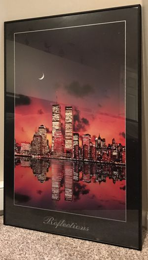 Twin Towers Artwork - Framed with Glass for Sale in New York, NY