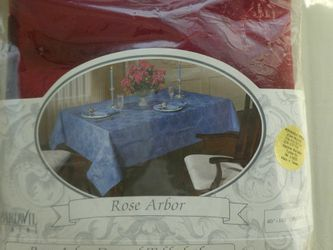 "Elegant Large Damask Red Tablecloth Rectangle 60"" X 102"" for Sale in Fallston,  MD"