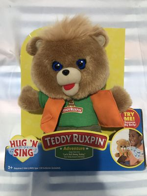 Teddy Ruxpin hug n sing for Sale in Moreno Valley, CA
