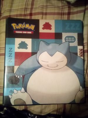 Snorlax binder, cards, and card sleeves for Sale in Gulfport, MS