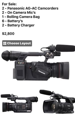 Panasonic AG-AC130 Camcorder for Sale in Eustis, FL