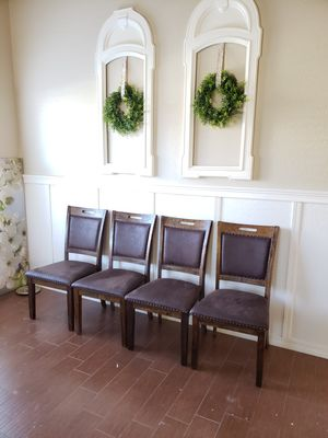 Dark brown kitchen table chairs for Sale in Queen Creek, AZ