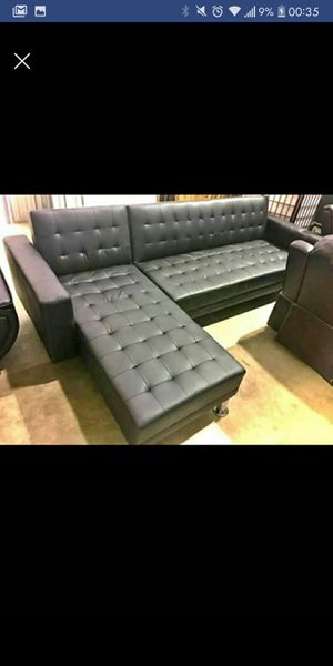 New Black Futon Sectional for Sale in Austin, TX