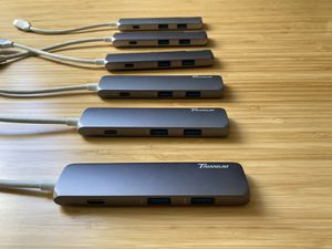 Trianium USB C hub lot of 6 with power and HDMI cables for Sale in Antioch, CA