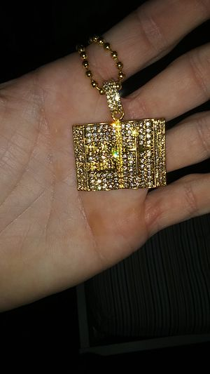 Iced out holy bible pendant with beaded necklace for Sale in Edgewood, MD