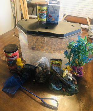 Fish Tank + Add ons! for Sale in Fresno, CA