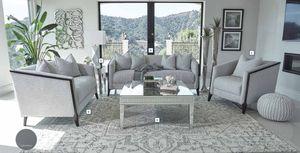 Grey Chenille Sofa + Loveseat for Sale in Fresno, CA