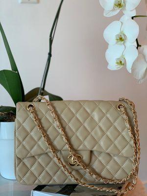 Chanel Jumbo Beige lambskin Bag for Sale in Aventura, FL