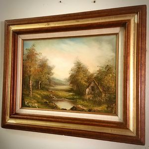 Beautiful original oil painting Landscape by Cafieri H19(12)xW23(16) inch Lbs 3.7 for Sale in Chandler, AZ