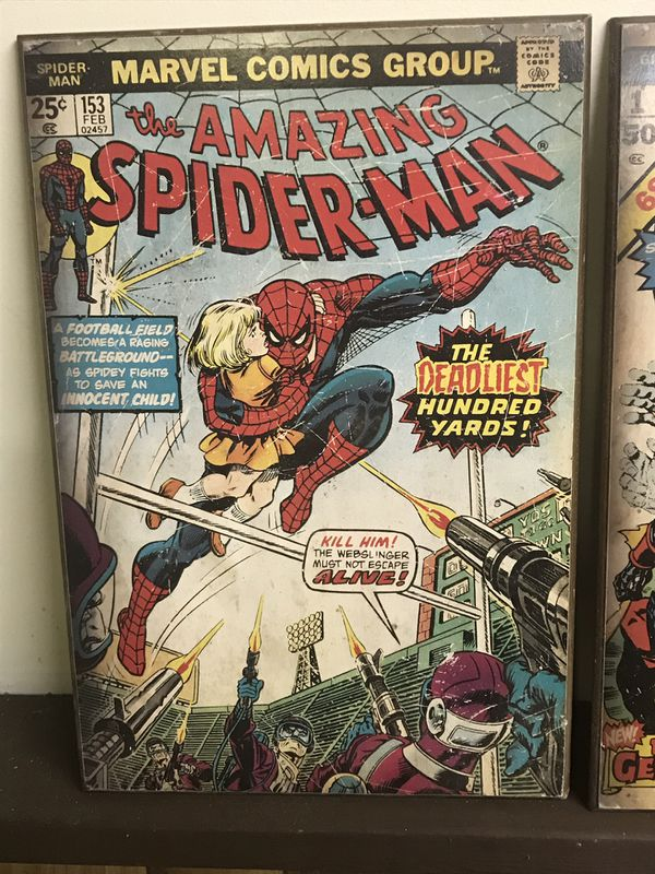 Giant comic book cover art